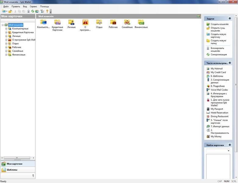 Главное окно программы на ПК